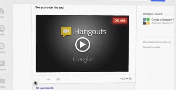 Google : Hangouts On Air pour Google + !