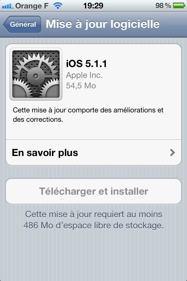 iOS 5.1.1 disponible pour iPhone, iPod Touch et iPad