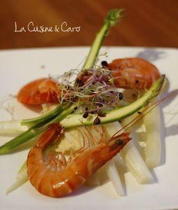 asperge_cru_cuit_crabe_vinaigre_mandarine_pousses_crevettes