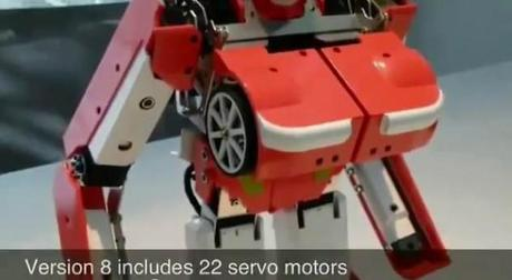 robot transformer 8 2 600x329 Un véritable petit Transformer doté de 22 moteurs