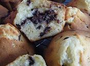Muffins chocolat blanc pépites noir, fourrés nutella