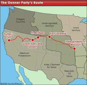 Carte Donner Party