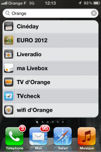 Quelques applications orange sur mon iPhone