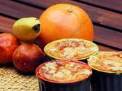 Flan pamplemousses, oranges sanguines, bananes streusel Grapefruit, Blood Orange, Banana Streusel