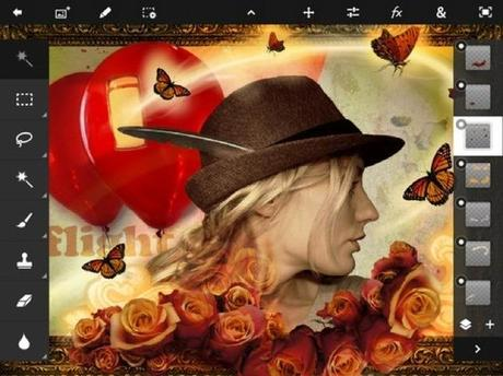 Adobe Photoshop Touch pour iPad, passe en 1.2...
