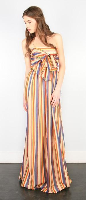 stiped maxi dress by elinor