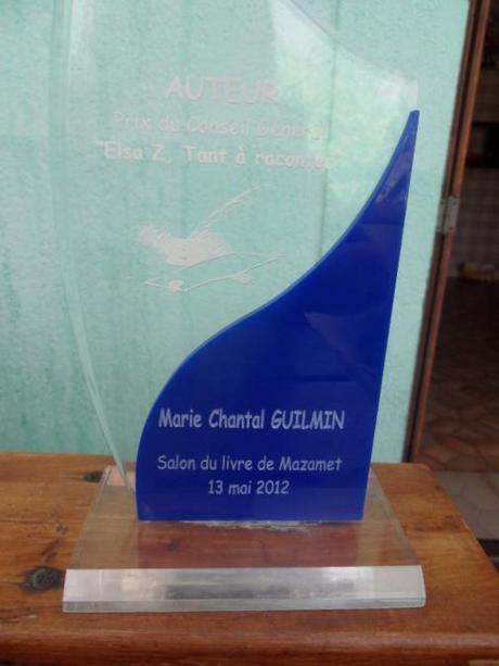 L'auteure Marie-Chantal Guilmin remporte le Prix du Conseil Général lors du Salon du livre de Mazamet 2012