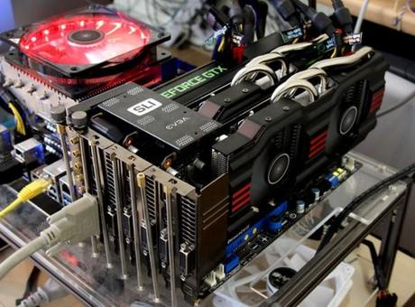 1234573 3 way sli gtx67 600x444 GeForce GTX 670 : le 4 Way SLI pour bientôt