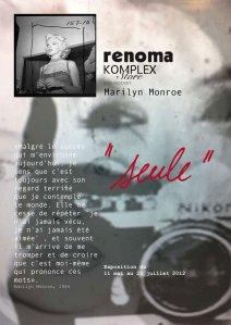 Exposition : Seule, hommage à Marilyn