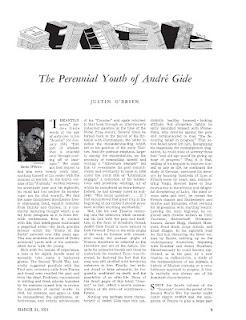 The Perennial Youth of André Gide, par Justin O'Brien