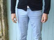 tenue jour chaussures golf Prada, fond bleu