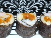 makis sushis crevettes chutney carotte parfumé