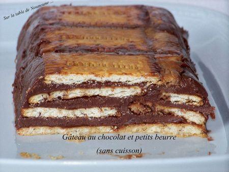 Gâteau au chocolat et petits beurre (sans cuisson) - Paperblog
