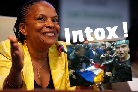 Désintox: Christiane Taubira et les drapeaux français