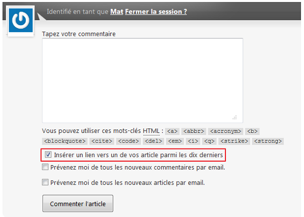 ComentLuv CommentLuv, le plugin Win Win?