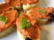 Pesto Rosso canapé Polenta Olives