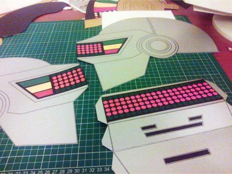 Daft Punk Helmets papercraft (x 2)