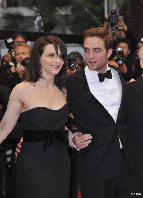 Robert Pattinson et Juliette Binoche. cannes 2012
