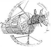 Design de colonie spatiale dans l'univers de First Gundam