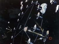 Vue d'artiste de l'extérieur d'une colonie cylindrique (NASA Ames Research Center)