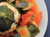 Courgettes farcies saumon