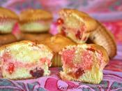 Muffins marbrés fraises séchées