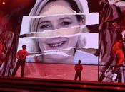 FATIGAY l'actualité Madonna diffuse concert photo Marine avec croix gammée