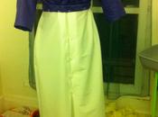 Robe Sybil 1910 mauve, corsage quasi finalisé