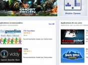 Facebook l'App Center ouvert