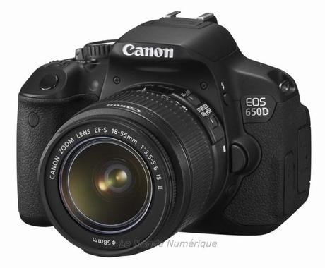 Canon lance l'appareil reflex EOS 650D avec écran tactile et double système autofocus