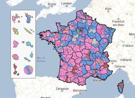 Google Maps legislatives Les résultats des législatives disponibles sur une carte interactive Google Maps