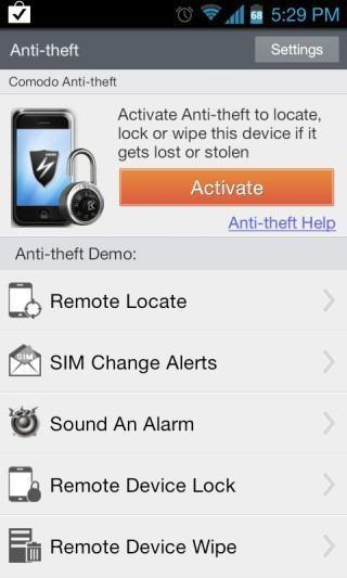 Comodo Anti Theft