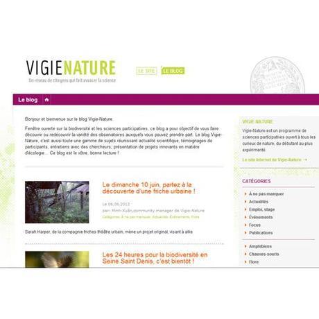 Lancement du Blog Vigie-Nature : Participer au programme de sciences participatives sur les réseaux sociaux
