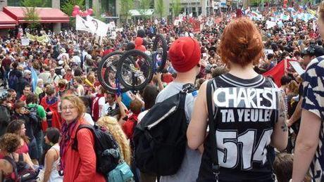 Manifestations du 22 mai 2012 à Montréal.