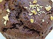 Muffins chocolat cœur crème noisette