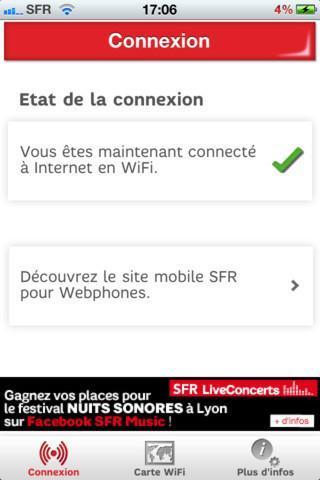 Auto Connect WiFi SFR pour iPhone et iPad, disponible...