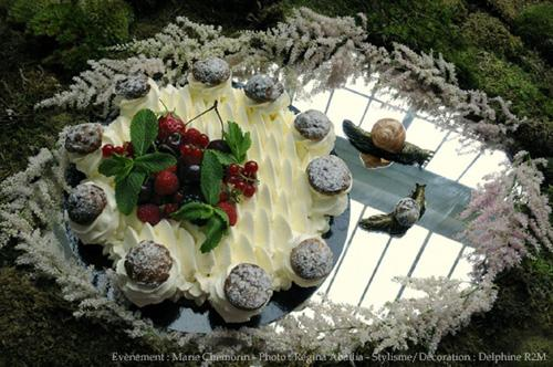 Escargots et chantilly