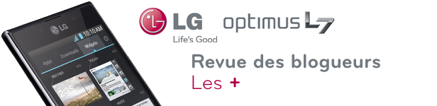 LG Optimus L7 Revue points +