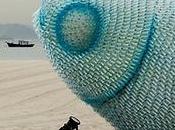 Sculptures poissons bouteilles plastiques
