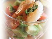 Petite verrine saumon avocat tomate, classique plait