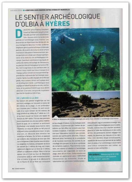 sentier acheologique sous marin hyeres