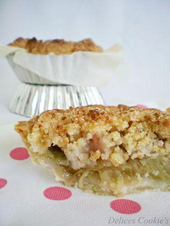 pie crumble rhubarbe 4