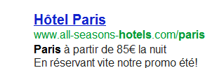 Exemple annonce google adwords