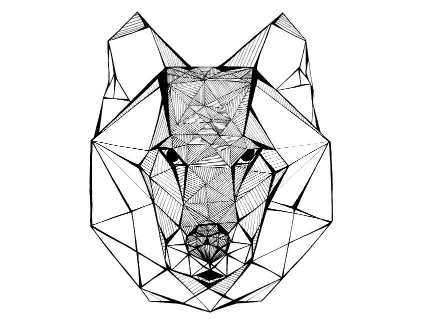 La graphiste du mois marie escames voir - Dessiner une tete de loup ...