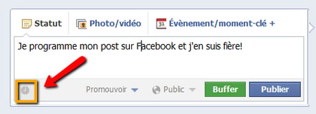 fonctionnalité facebook programmer post