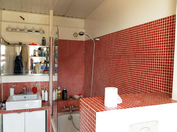 Awesome Salle De Bain Mosaique Rouge Contemporary - lalawgroup.us ...