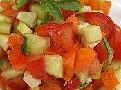 Tartare légumes croquants basilic