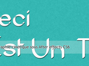 Créer Typographie cinétique- Kinetic Typography sous After Effects