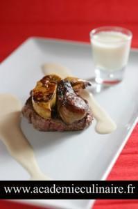tournedos et escalope de foie gras