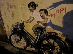 Peintures interactives par Ernest Zacharevic